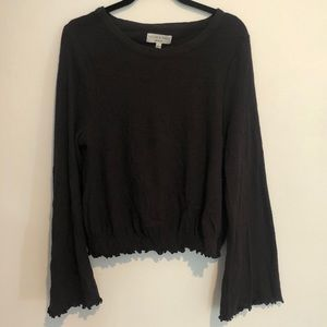 Madewell Texture & Thread Ruffle Bell Sleeve Top